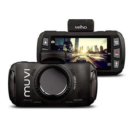 Veho Muvi Drivecam 1080p HD 3-in LCD Dash Camera with WiFi, GPS and G-Sensor Motion Detection - Black