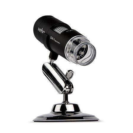 Veho DX-1 USB 2MP 200x Magnification Microscope with Alloy Cradle Stand - Black