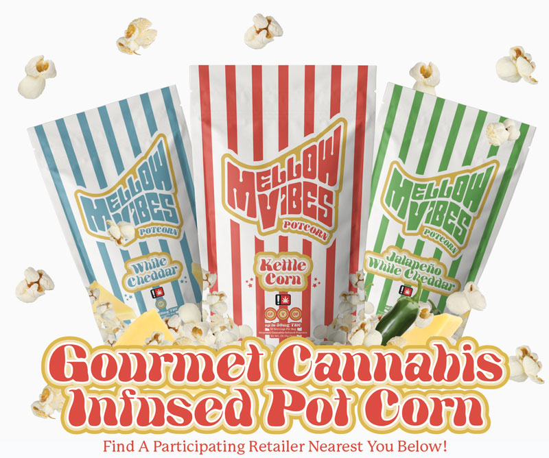 Mellow Vibes Cannabis Popcorn Store Finder