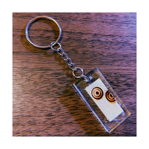 Ripple Small Rectangle Keychain