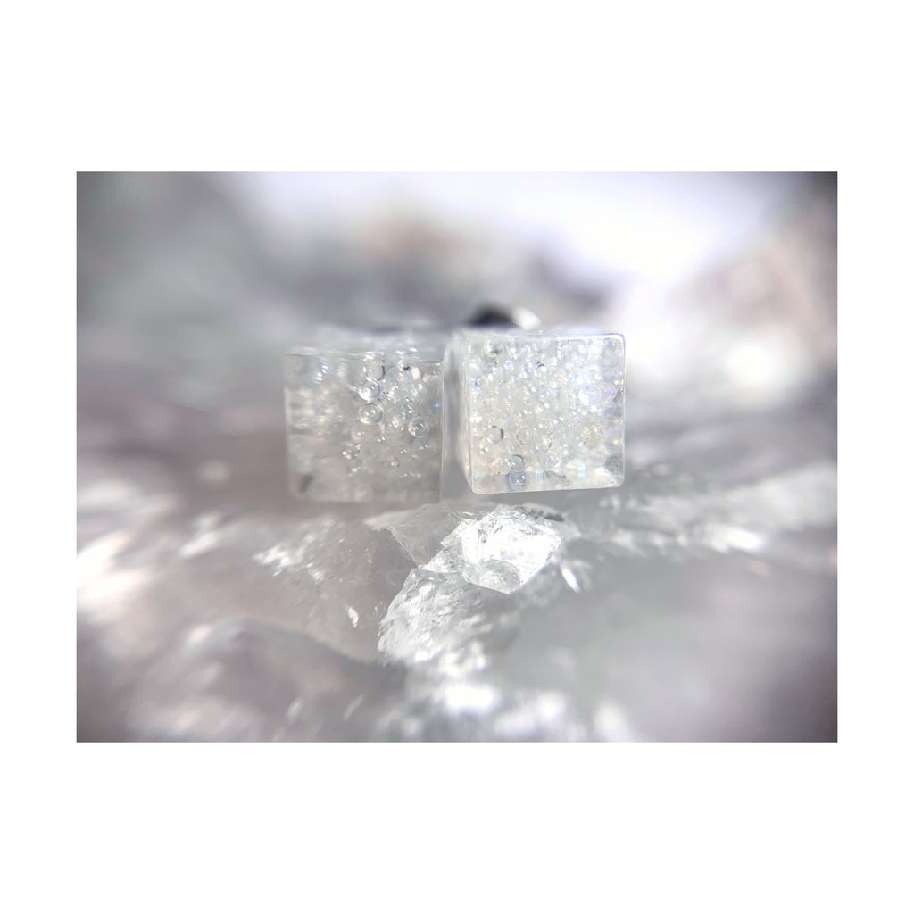 Clear Cube Studs