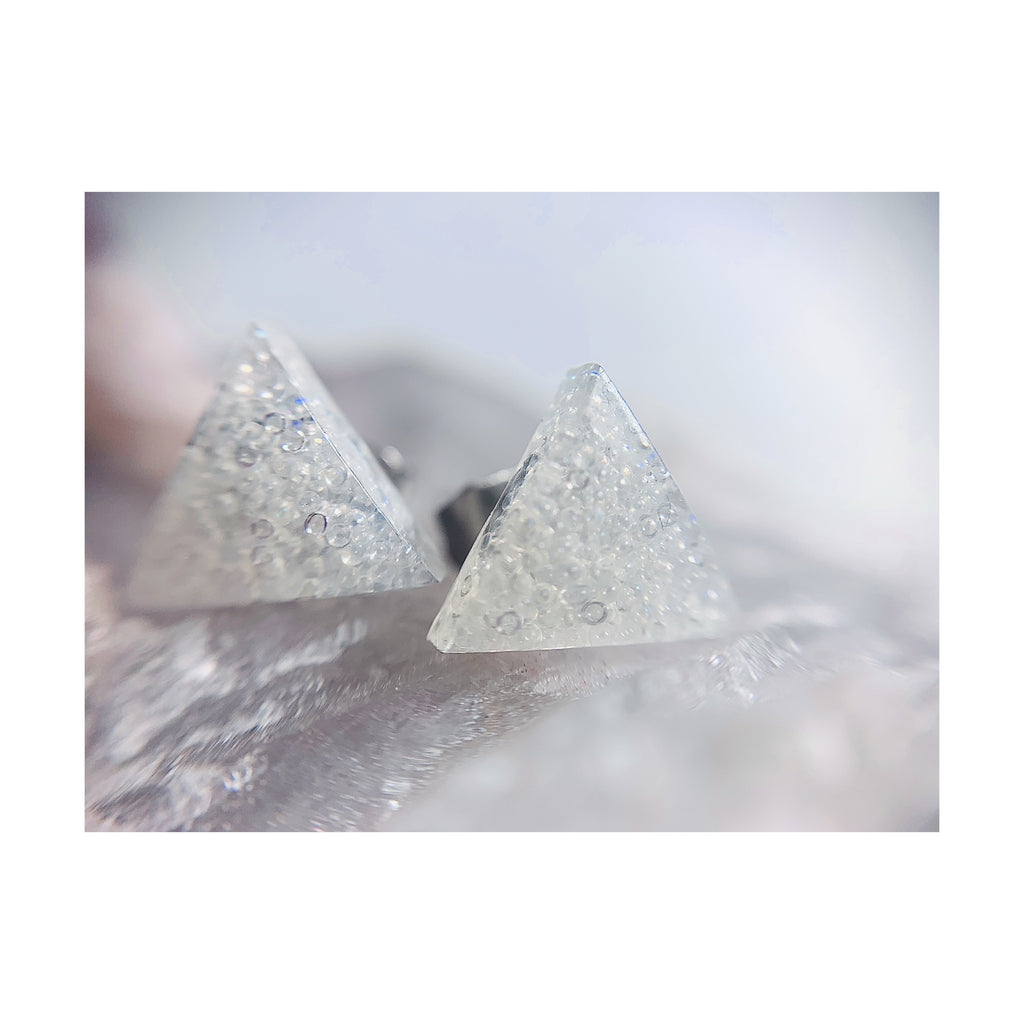 Clear Triangle Thin Studs