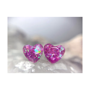 Mixed Signals Purple Heart Studs
