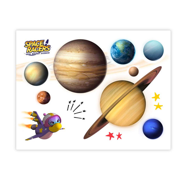 Space Racers Solar System Activity Poster with Sticker Set