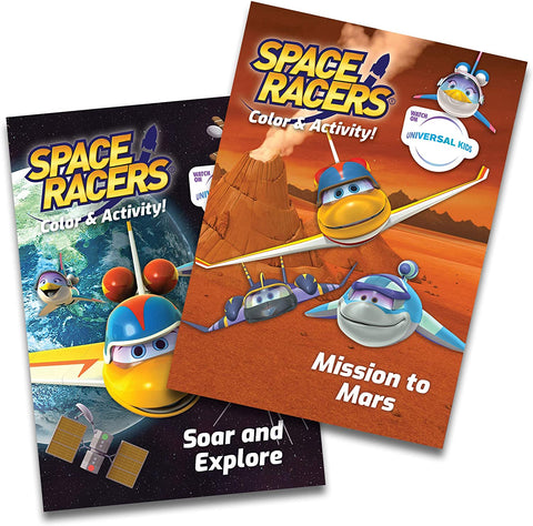 Space Racers Coloring & Activity Books