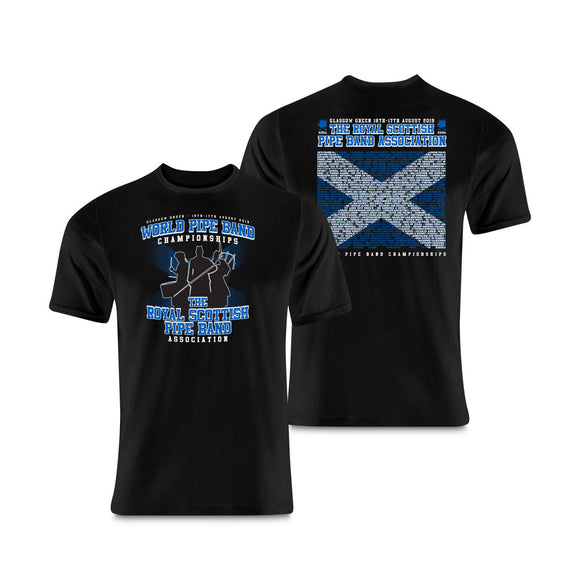 2018 The World Pipe Band Championships Bands T-Shirt
