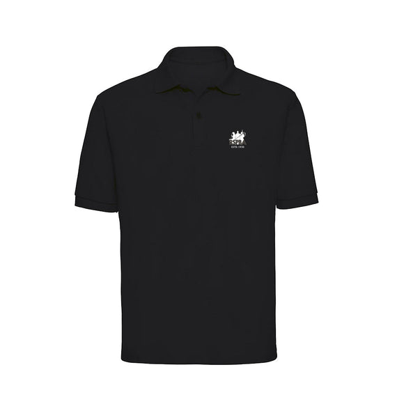 2019 Embroidered Black Polo Shirt