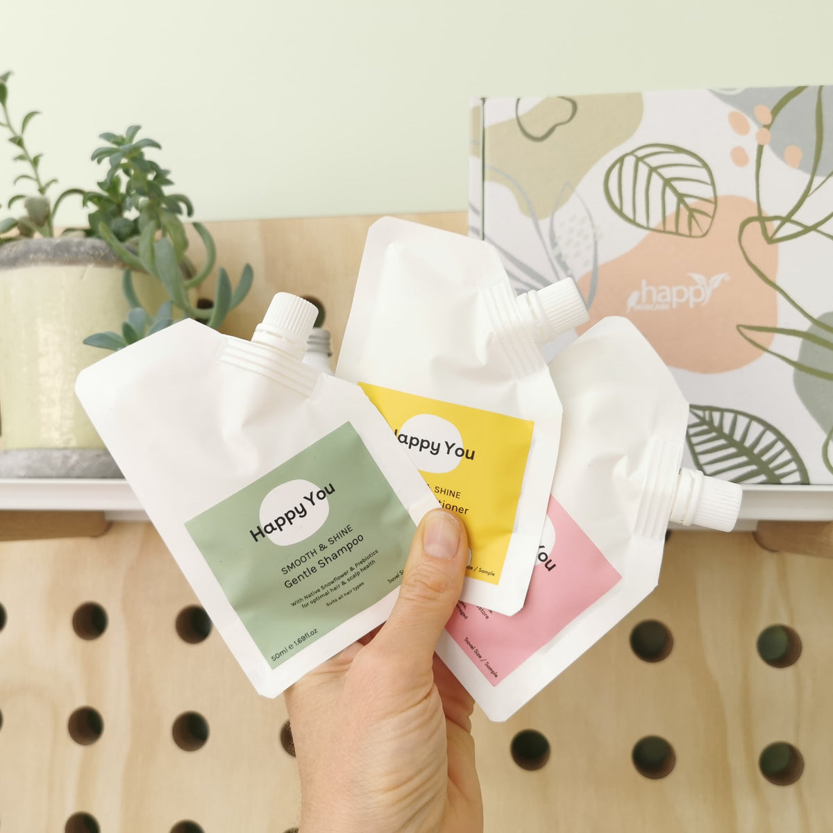 'Happy You' Hair Sample Pack (Shampoo + Conditioner + Moisture Mask)