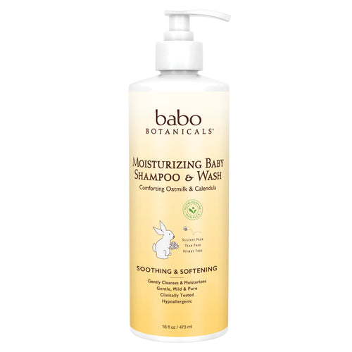 Babo Botanicals - Moisturizing Baby Shampoo and Wash (16 oz)