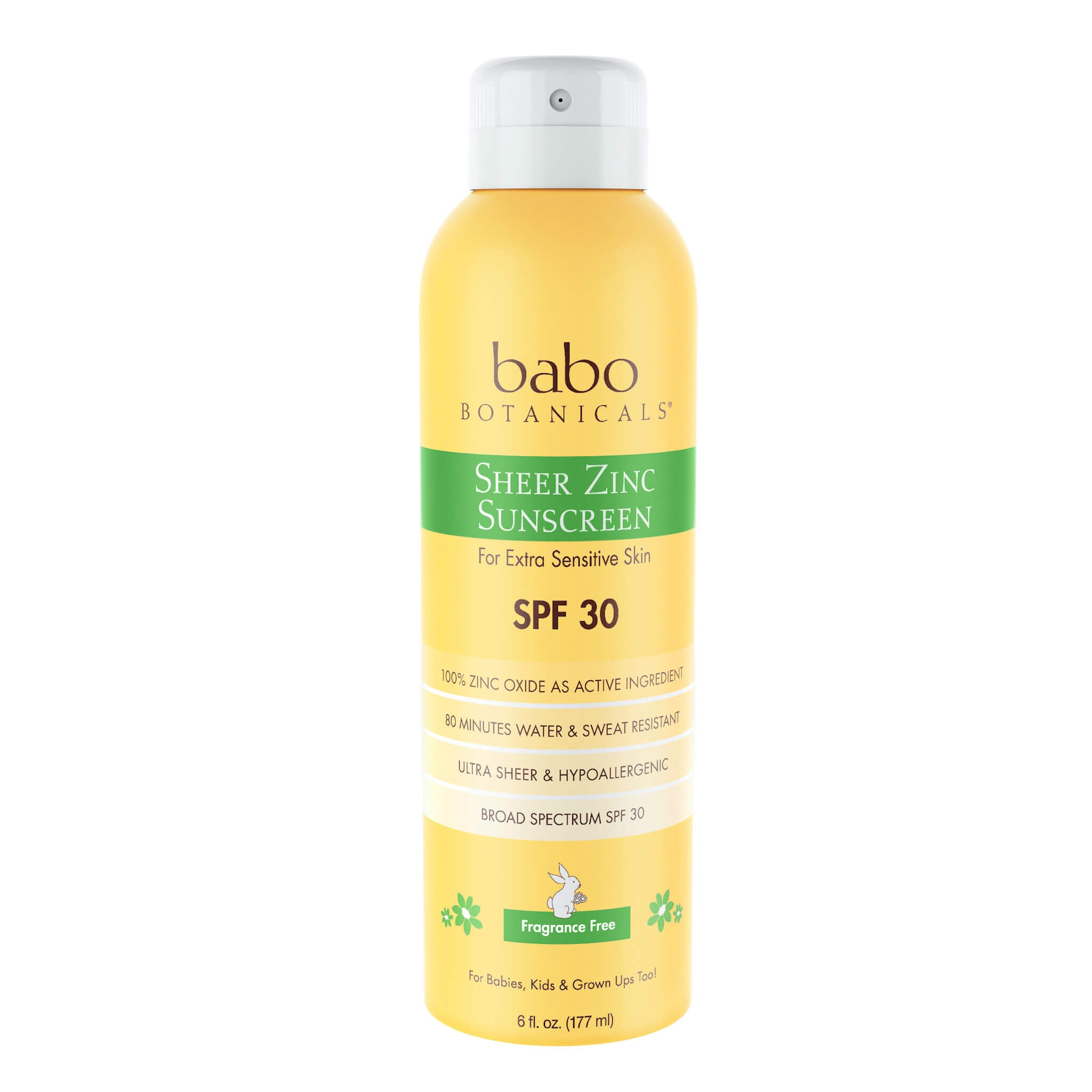Babo Botanicals - Sheer Zinc Continuous Spray Sunscreen SPF 30 (6 oz)