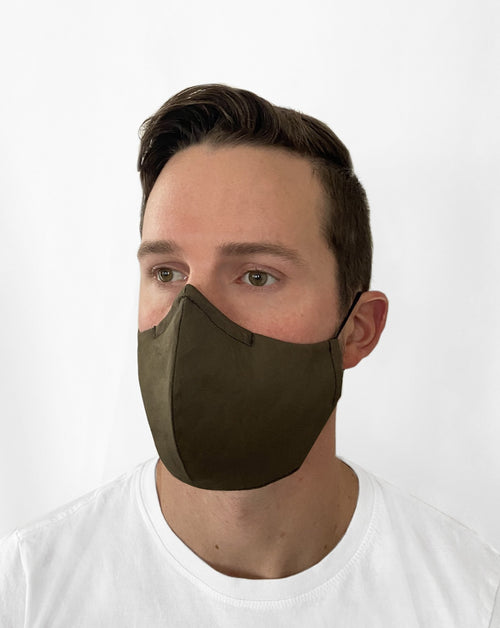 Man in Olive Green mask