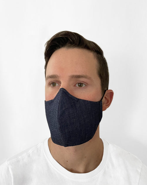 Man in Denim Mask