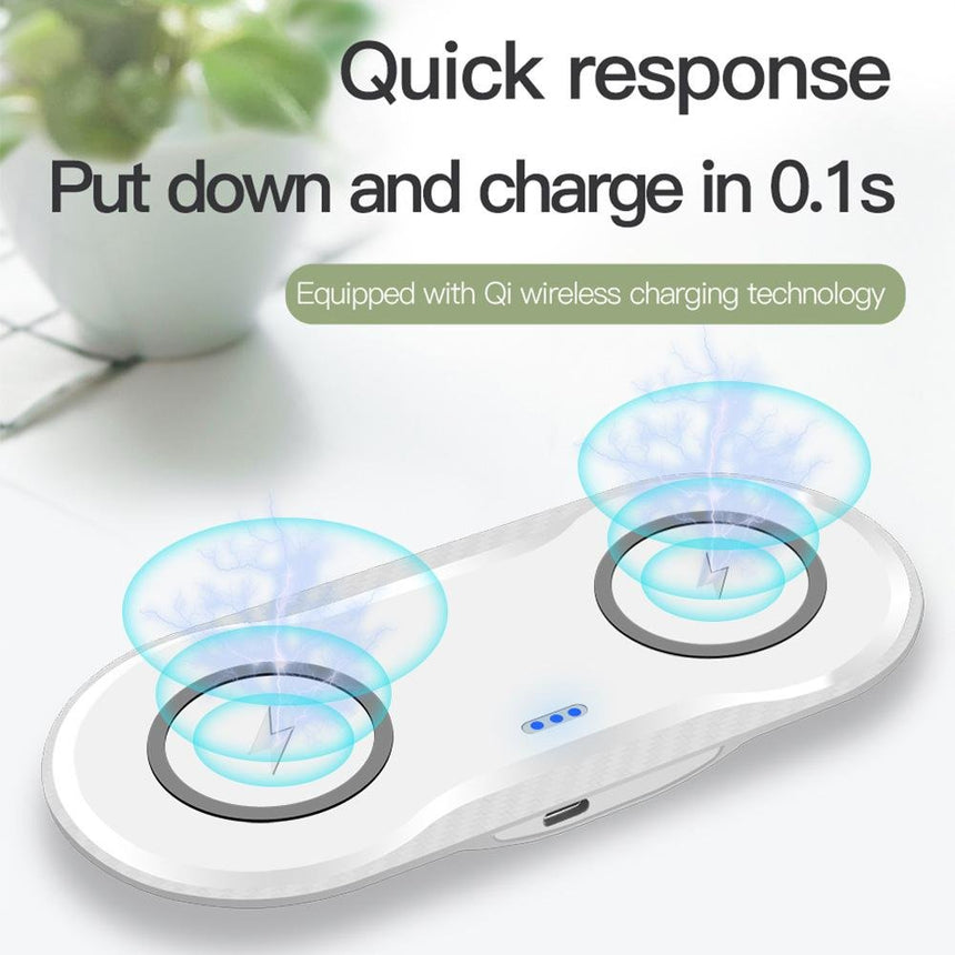 10w Wireless Dual Charger - HomeKit Australia