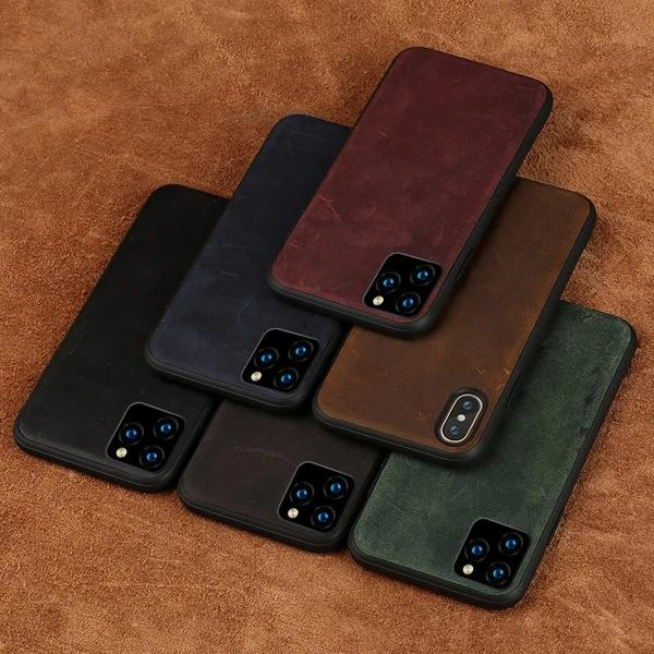 iPhone 12 Pro Burgundy Leather Case - HomeKit Australia