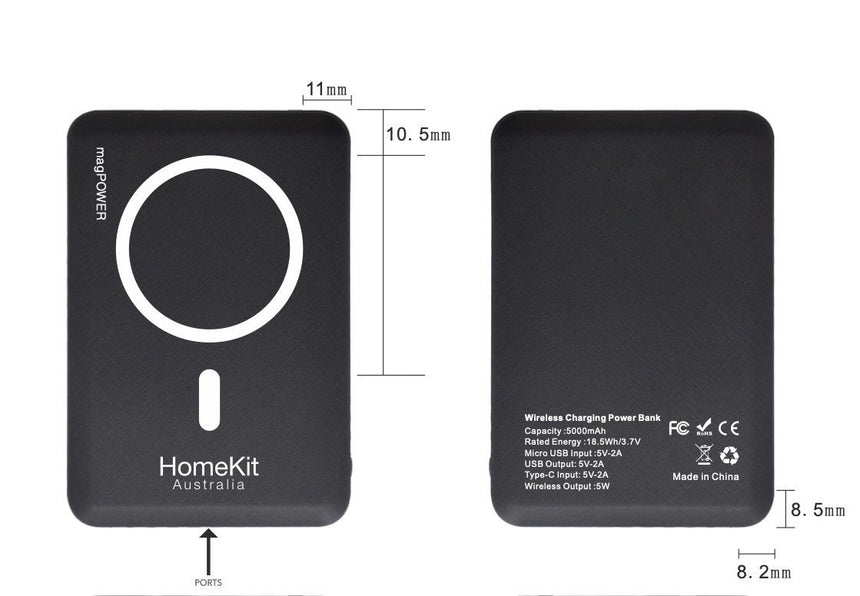 magPOWER 15w iPhone 12 MagSafe PowerBank - HomeKit Australia