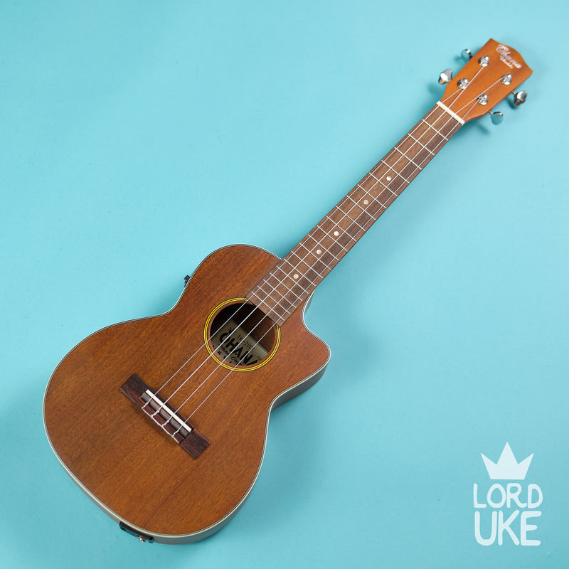 Ohana TK-20CE Tenor Ukulele (Solid Mahogany Top, Natural Satin, Pickup, Gigbag)