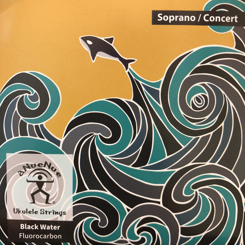 Anuenue Black Water Ukulele Strings (Dark Fluorocarbon)