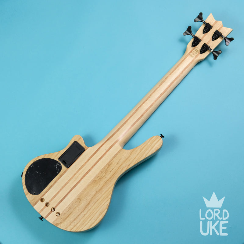 Mahalo MEB1NA Electric Bass Ukulele (Solid American Swamp Ash Body)