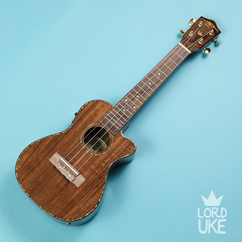 1880 Ukulele Co. '300 Series' (Solid Koa Top, Various Sizes)