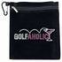 golfaholic pink martini clip on bling golf accessory bag