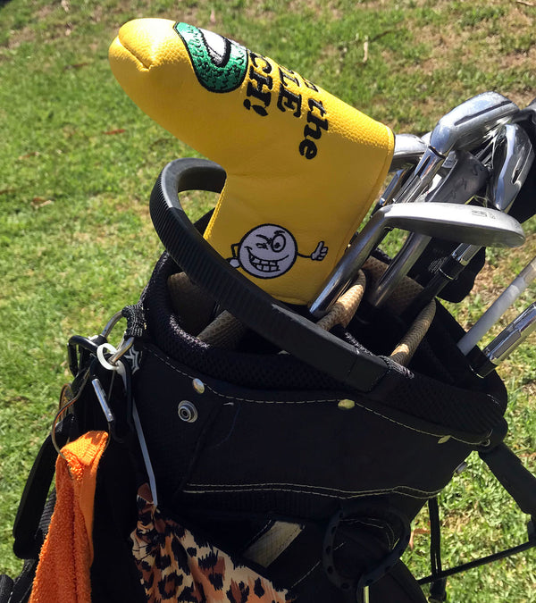 get in the hole bitch blade putter cover smiley face