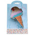 ice cream cone shaped cookie cutter with recipe card
