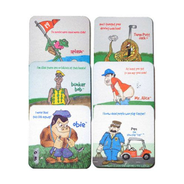 Men's 6 Pack Funny Fabric Coaster Set