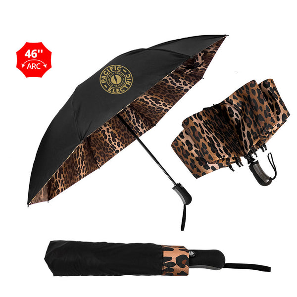 customizable leopard print umbrella for safari golf tournament