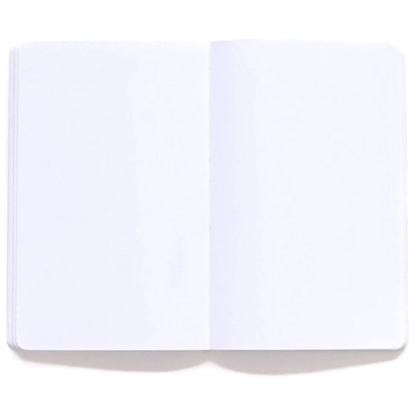 light pink notebook with flower design and blank pages