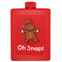 gingerbread man cookie red plastic golfing hip flask