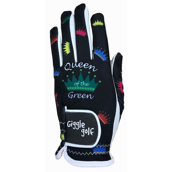 black queen of the green women's golf glove