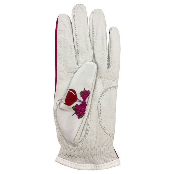new red wine women's golf glove