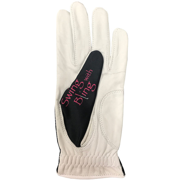 Swing With Bling Women's Golf Glove With Ball Marker