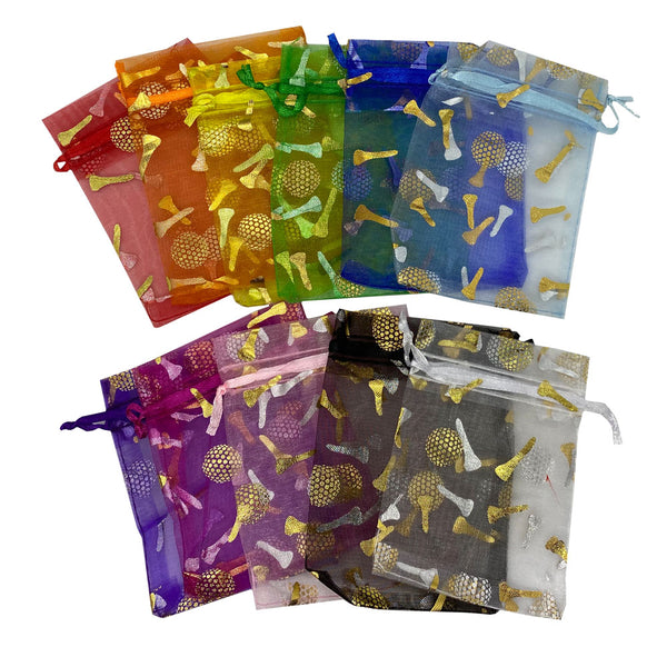 Giggle Golf Cute Organza Bag Packaging For Bling Golf Ball Markers