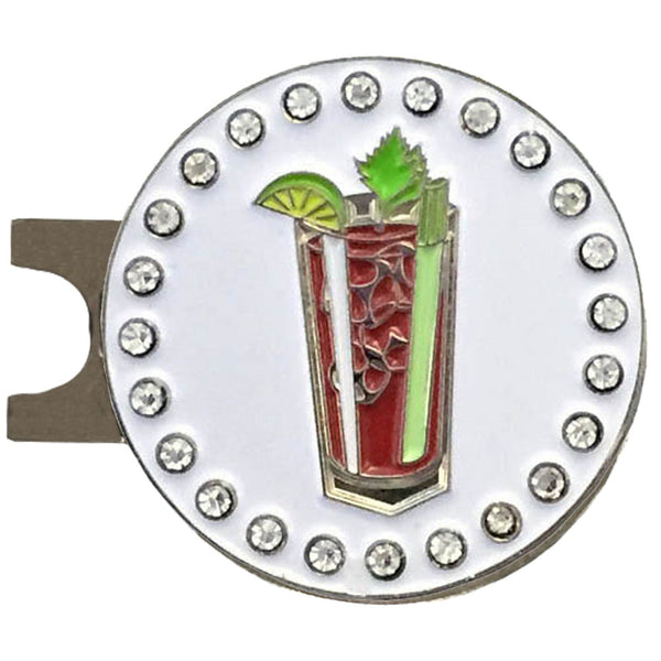 bling bloody mary golf ball marker with a magnetic hat clip