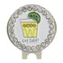 bling got salt golf ball marker on a lime shaped hat clip
