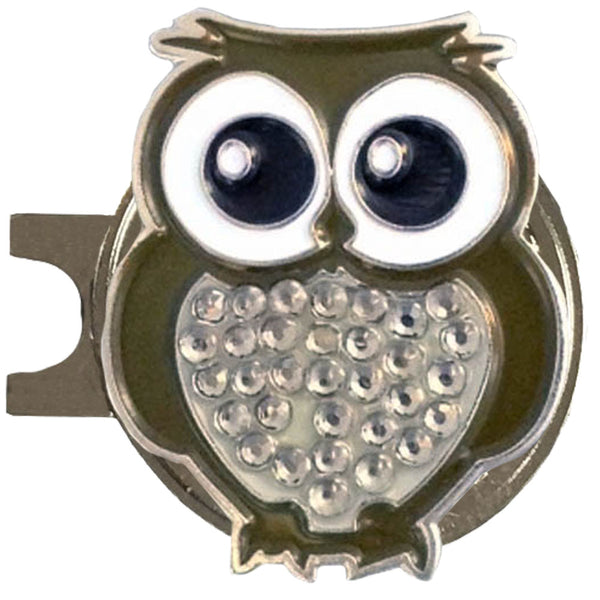 bling owl golf ball marker with a magnetic hat clip