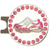 bling pink and white golf shoes ball marker with a magnetic hat clip