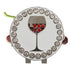 bling red wine golf ball marker on grapes shaped hat clip
