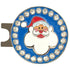 bling santa golf ball marker on a magnetic hat clip