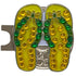 bling yellow green flip flops golf ball marker with a magnetic hat clip