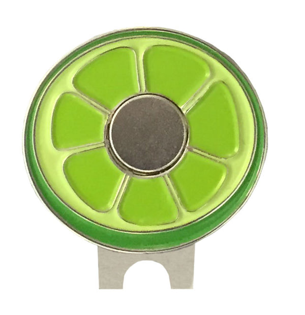 giggle golf magnetic lime hat clip