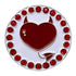bling red devilish heart golf ball marker only