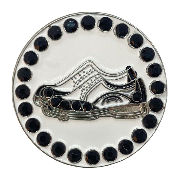 Golf Shoes (Black) Golf Ball Marker Only