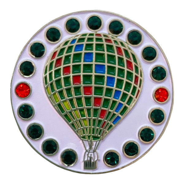 bling hot air balloon golf ball marker only