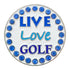 bling live love golf ball marker only