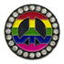 bling rainbow peace sign golf ball marker only