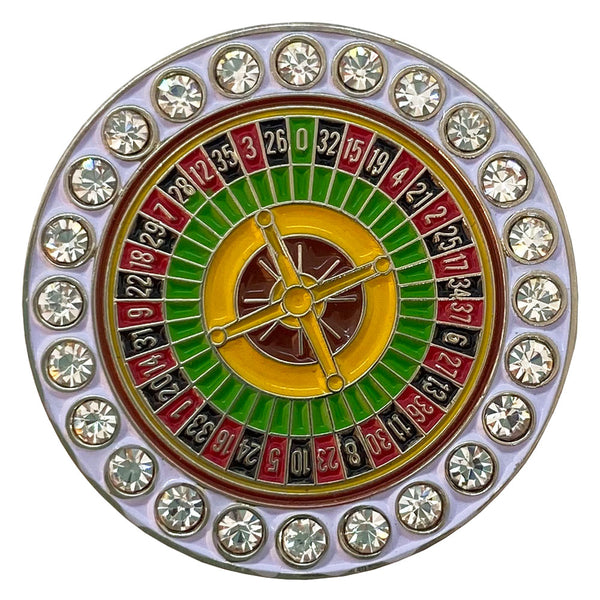 bling roulette wheel golf ball marker only
