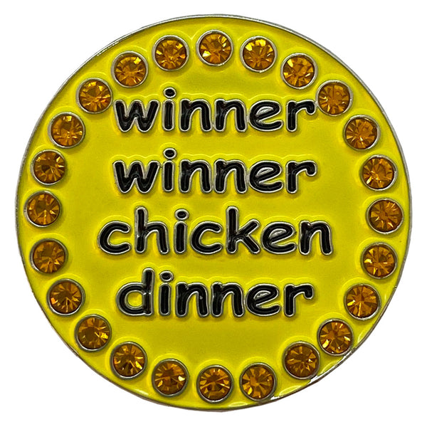 bling winner winner chicken dinner golf ball marker only