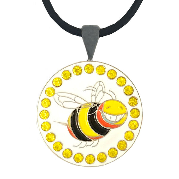bling bee golf ball marker necklace